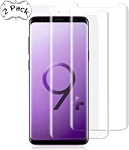 Galaxy S9 Plus Screen Protector, UZER Tempered Glass Film 3D Curved Edge,HD Clear, Ultra-thin, Case Friendly/96% coverage, 9H Hardness,Bubble Free,Anti-Scratch for Samsung Galaxy S9 Plus 2018 [2 Pack]