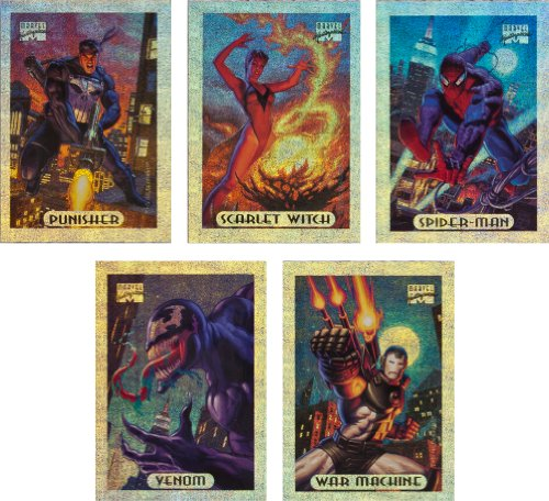 1994 Fleer Marvel Masterpieces Series-3 New Complete 10-Card Silver Holofoil Set