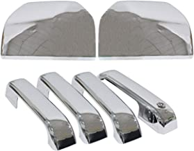 NewYall Set of 6 Chrome 2 Top Half Side Mirror Cover and 4 Door Handle Covers
