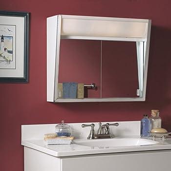 Amazon Com Broan Jensen Medicine Cabinet Flair 28w X 19 5h In Surface Mount Medicine Cabinet 327lp Home Kitchen