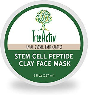 TreeActiv Stem Cell Peptide Clay Face Mask (8 fl oz), Kaolin Clay, Alpine Rose Stem Cells, Evening Primrose Oil, Active Pe...