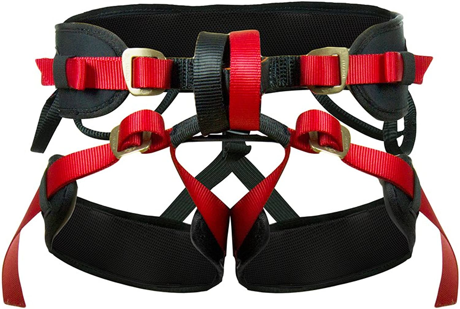 Fusion Climb Theo Pro Padded Rappeling Adjustable Harness 23kN MXL Red