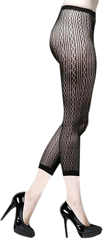 Footless Lotus Fashion Designed Fishnet Tights