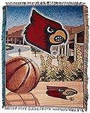 NORTHWEST NCAA Louisville Cardinals Woven Tapestry Throw Blanket, 48' x 60', Home Field Advantage