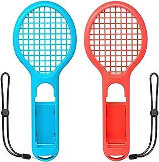 SKEIDO Tennis Racket for Nintendo Switch Joy-con, Grips for Switch Joy-con, Fit Somatosensory Games like Mario Tennis Aces