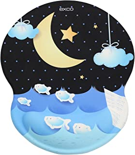 EXCO Cute Mouse Pad Gel Wrist Rest with Soft Comfort Silica Gel Wrist Support Non-Slip PU Base Smooth Surface Office Compu...
