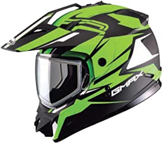 GMAX Unisex-Adult Full-face-Helmet-Style G2111677 F.TC-23 Gm11 Snow Vertical Flat Black/Hi-Vis Green xl X-Large