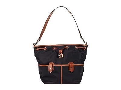 Dooney & Bourke Wayfarer Large Drawstring (Black) Handbags