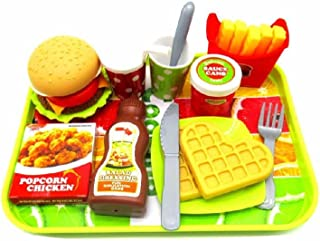 Paradise Treasures Fast Food Burger Fries Waffle Deluxe Breakfast and Dinner Set