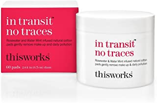 ThisWorks In Transit No Traces 60 Cotton Cleansing Pads - To Remove Traces Of Pollution, Dirt and Make-Up