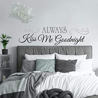 RoomMates Always Kiss Me Goodnight Quote Peel and Stick Wall Decals , 10 Inch x 18 Inch..