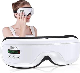 Eye Massager with Heat, Air Compression, Vibration, Bluetooth Music Shiatsu Eye Massage for Relieving Dry Eyes, Eye Fatigu...
