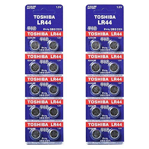 Toshiba LR44 AG13 Alkaline 1.5 Volt Batteries x20 by Toshiba