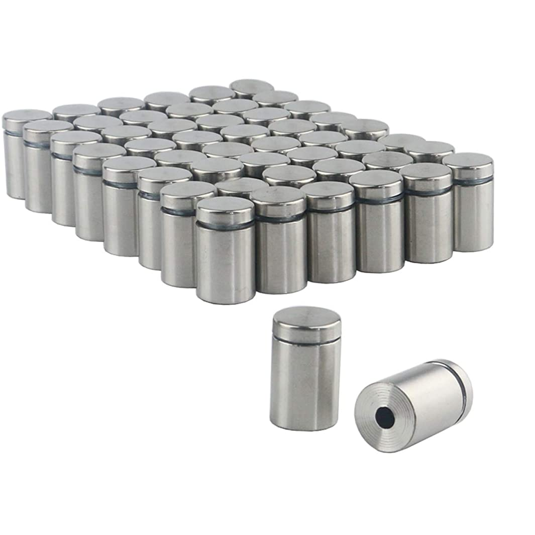 Ogrmar 50PCS 19X30mm Stainless Steel Wall Standoff for Glass (19x30mm)