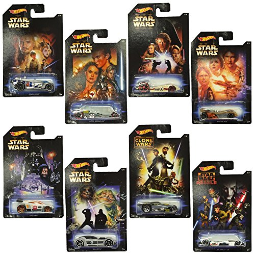 Hot Wheels Star Wars Diecast Cars Complete Set of 8