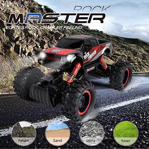 RC Crawler kaufen Crawler Bild 1: Maximum RC Ferngesteuertes Auto für Kinder - 4WD Monstertruck - XL RC Auto für Kinder ab 8 Jahren - Rock Crawler (rot)*