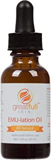 EMU-lation Oil By GreatFull Skin Is a 100% Natural And Vegan Alternative to Emu Oil - Smooth Fine Lines and Stretch Marks - 1 Ounce