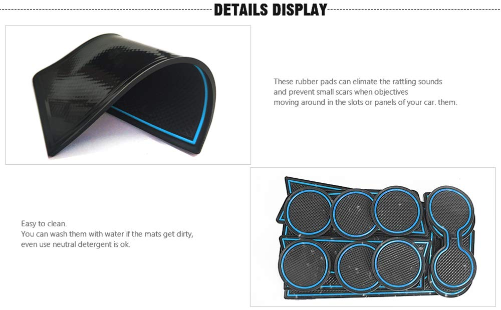 27pcs//set Black Auovo Anti Dust Mats for Ford Explorer 2019 2018 2017 2016 Custom Fit Door Compartment Liners Cup holder Pads Console Mats Interior Accessories