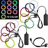 Best El Wires - DanziX 10 Pack 3ft Portable EL Wire, Neon Review