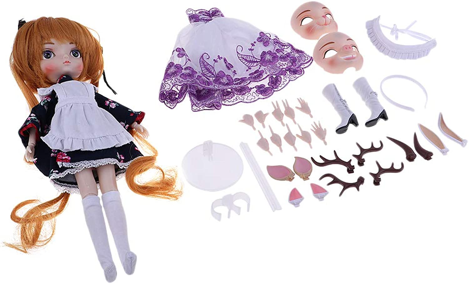 Baoblaze 1 6 Bjd Girl Doll Ball Joints Doll & DIY Accessories for BBgirl for SD Doll
