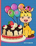 Sketchbook: 8.5x11 Giraffe Birthday Party Favor For Kids Under 10 / Blank Paper for Drawing / Great Coloring Sketching and Doodling Gift