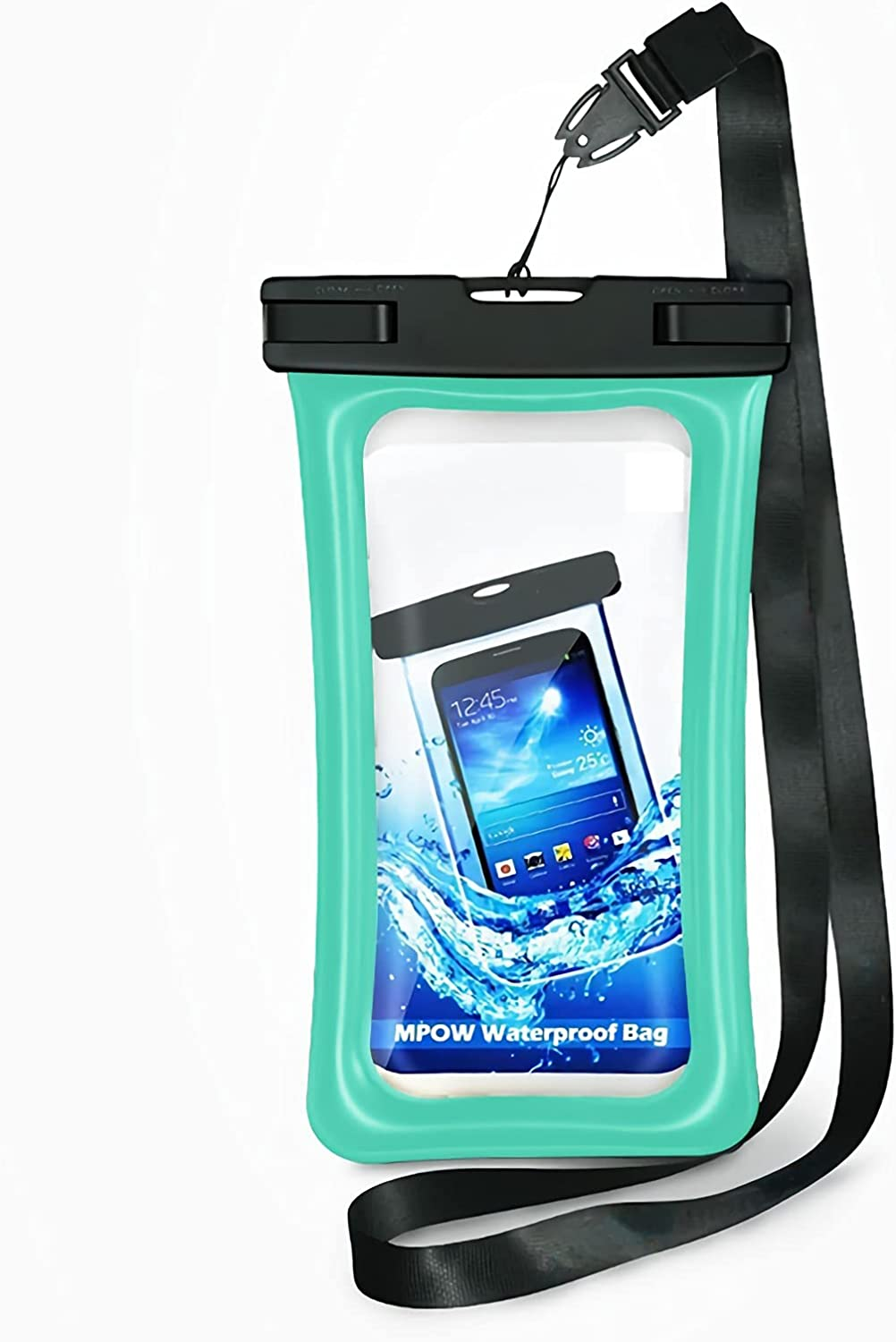 """Water Proof Bag Packs Neck Pouch Cell Phone Bag Waterproof for Phone Pouch Floating Universal Waterproof Pouch Cellphone Dry Bag Case All Phones Up to 6.5"""" (Light Blue, L)"""