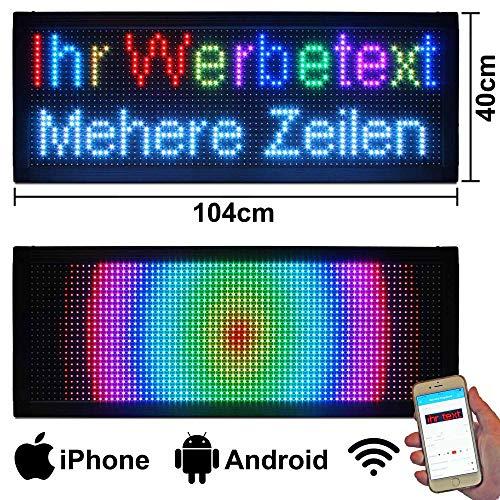 LED-Laufschrift 104x40 RGB WiFi