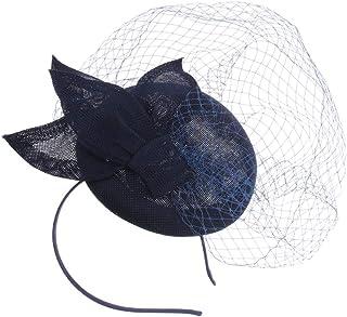 Baoblaze Diadema de Pelo Sombrero con Plumas Artificiales Tocado de Cabello Fascinator para Mujer