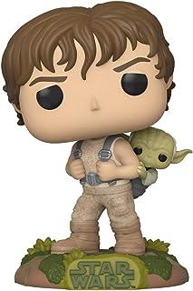 Funko Pop! Star Wars: Star Wars - Entrenamiento de Luke con Yoda, multicolor, 3.75 pulgadas