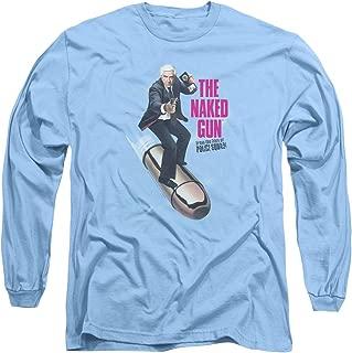 The Naked Gun Frank Drebin Speeding Bullet Funny 80s Adult Long Sleeve T-Shirt