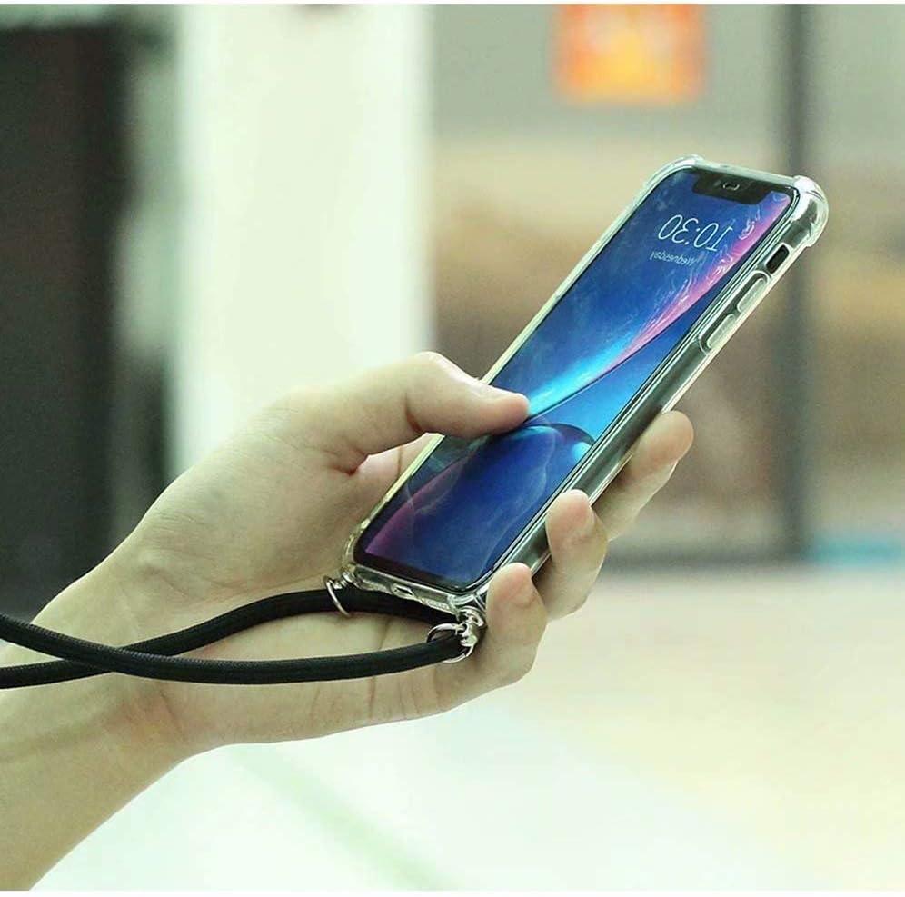 Bigcousin Funda con Cuerda Compatible con LG K9//K8 2018,Ultrafina Suave Transparente TPU con Ajustable Collar Cadena Cord/ón,Menta Verde