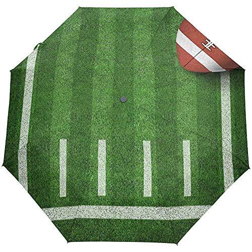 EW-OL American Football Regenschirm Winddicht Regen Automatik Aufklappen Zuklappen Reise Anti-UV Sonnenschirme