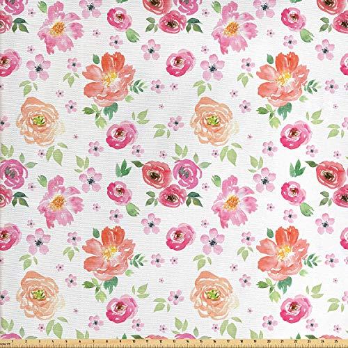 daoyiqi Juego de adhesivos decorativos para azulejos, diseño floral, diseño de flores, tulipanes, acuarela, color rosa pálido, 20,3 x 20,3 cm, vinilo adhesivo para suelo de azulejos de 12 unidades