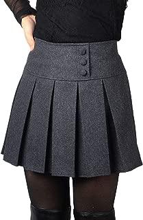 Women's Casual Plaid High Waist A-Line Pleated Skirt