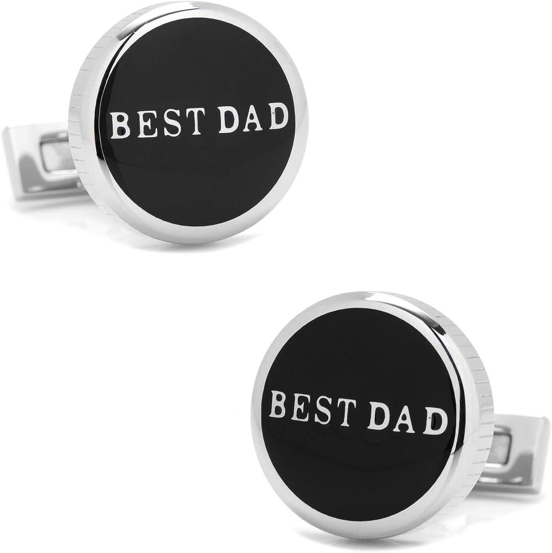 Best Dad Black Stainless Steel Cufflinks