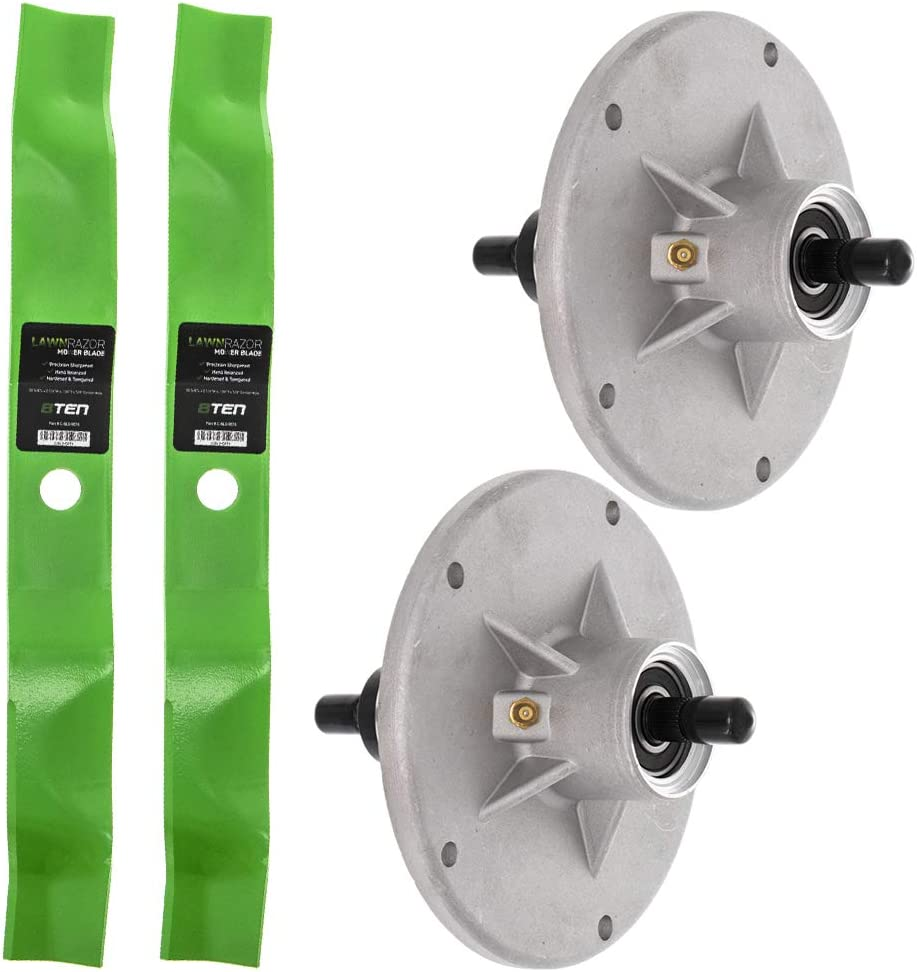 8TEN 2 Deck Tucson Mall Spindle Blade Sale Kit Combo 40 42 Scotts Murray for inch