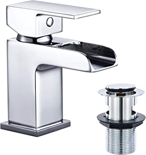 Funime DT10D Basin Taps with Waste, Silver