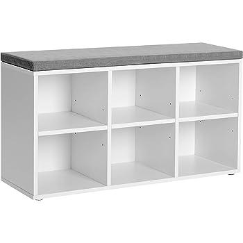 Amazon Com Closetmaid 1569 Cubeicals 3 Cube Storage Bench White Home Kitchen