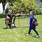 "WISHOME 47.3"" Folding Pop-Up Goal Collapsible Children Soccer Goals for Backyard Football Gate Soccer Net for Kids Outdoor Sport Toys Ideal Gift for Children"