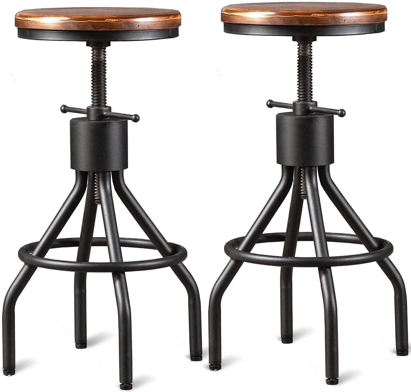 Industrial Bar Stool-Set Attention brand Sale special price of Coffee Counter Chair-Extra 2-Swivel