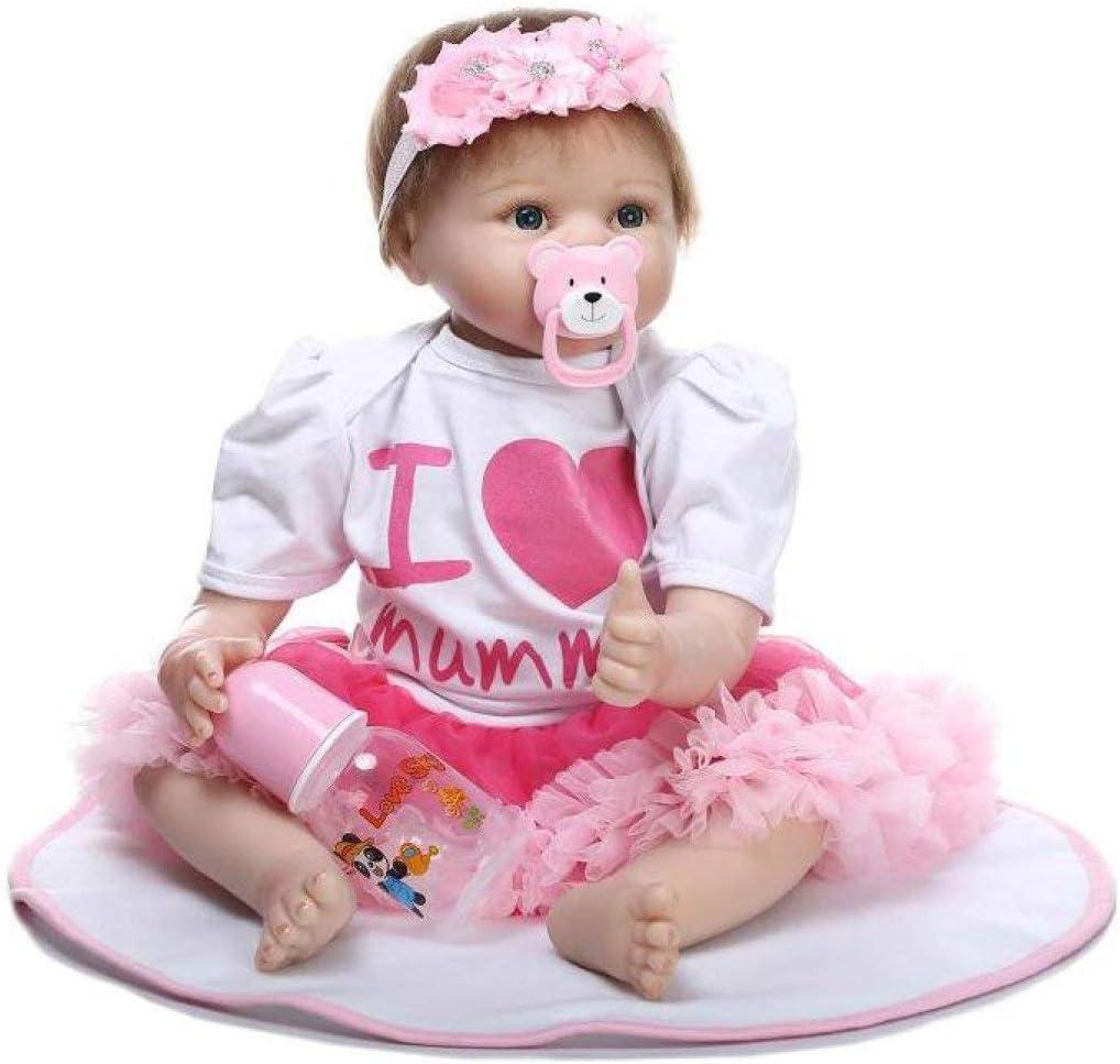 FMOGE Reborn Rapid rise quality assurance Baby Dolls Silicone Vinyl Doll 22 Boy Eyes Inc Open