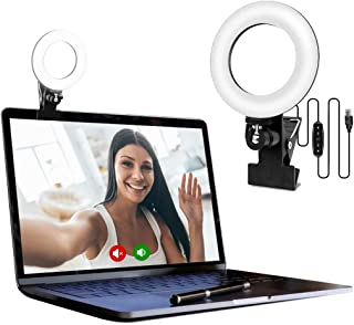 EEIEER Video Conference Lighting Kit, Conference light, zoom lighting, LED Ring Light Clip On for Computers, Monitors, and...