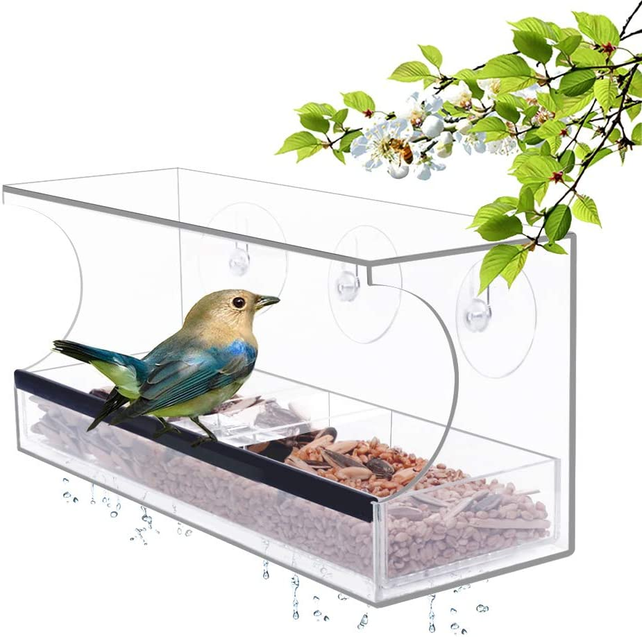 YestBuy Acrylic Window Bird Special Campaign Feeder Outside Removable T Seed for 5 ☆ very popular