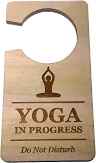 Origin Designed Yoga in Progress Do Not Disturb Room Door Hanger Sign 0.25
