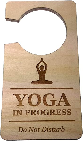 Origin Designed Yoga In Progress Do Not Disturb Room Door Hanger Sign 0 25 Plywood Yoga Pilates Exercise Class