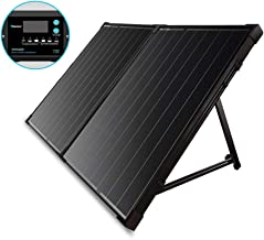 Renogy 100W 12V Protable Foldable Monocrystalline Solar Panel, Folding Solar Charger with 10A LCD Waterproof Charge Controller for Camping RV Van