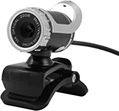 A859 USB 2.0 HD 12.0MP Webcam with Built-in Microphone for PC & Desktop Black & Silver