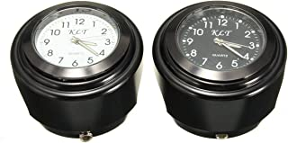 "Universal 7/8"" 1"" Motorcycle Handlebar Mount Quartz Clock Watch Universal Waterproof (Black)"