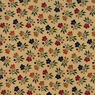 Kansas Troubles, Nature's Glory, Colorful, Small Floral, Tan Background, Moda, 9581-11, by The Yard