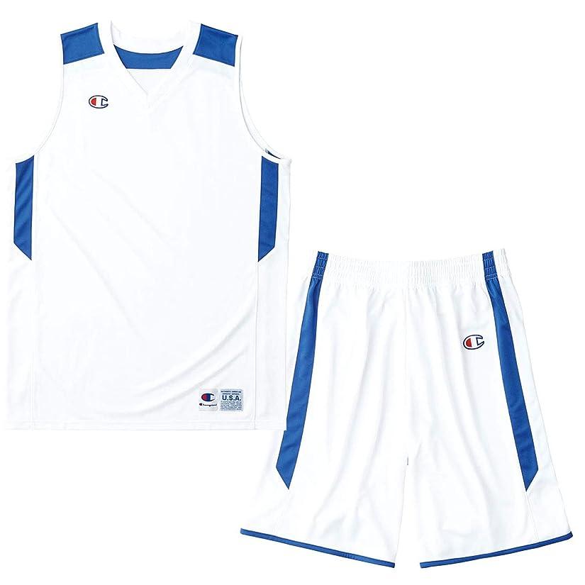 活気づくウールチューインガムチャンピオン(champion) ゲームシャツ&パンツ上下セット(ホワイトAブルー/ホワイトAブルー) CBR2206-WA-CBR2266-WA